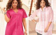 Блузки для девушек с пышными формами